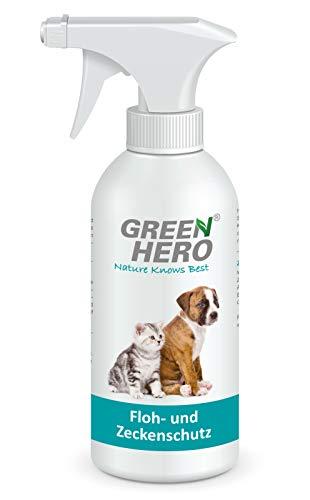 Green Hero Floh und Zeckenschutz für Hunde und Katzen Flohspray Flohmittel 500ml