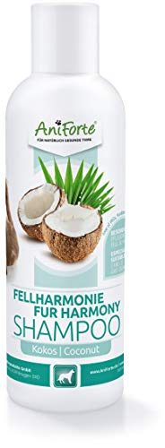 AniForte Fellharmonie Shampoo mit Kokosöl-Extrakt & Aloe Vera 200ml Hundeshampoo Kokos-Shampoo – Pflegeshampoo für...