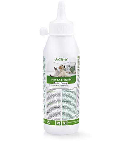 AniForte Floh-EX Pulver für Hunde & Katzen 250 ml - Effektive Abwehr gegen Flöhe und bei Floh-Befall, Diatomeernde &...
