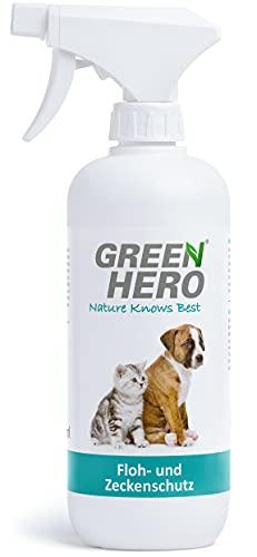 Green Hero Floh und Zeckenspray für Hunde und Katzen Flohspray Flohmittel Zeckenschutz Anti-Zecken Mittel - gegen...