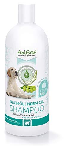 AniForte Neemöl Shampoo für Hunde 500ml - Hundeshampoo gegen Juckreiz Hund, Pflegeprodukt, Parfümfrei &...