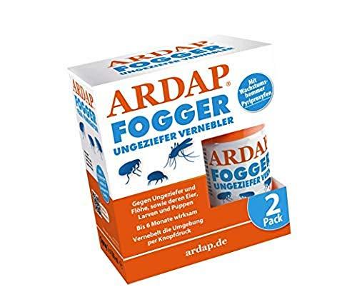 ARDAP Fogger 2 x 100ml - Effektiver Vernebler zur Ungeziefer- & Flohbekämpfung für Haushalt & Tierumgebung - für...