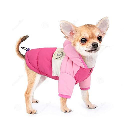 PET ARTIST Hundemantel mit Kapuze, Schneeanzug mit Loch für die Leine, wasserdicht, Winddicht, mit Kapuze, für...