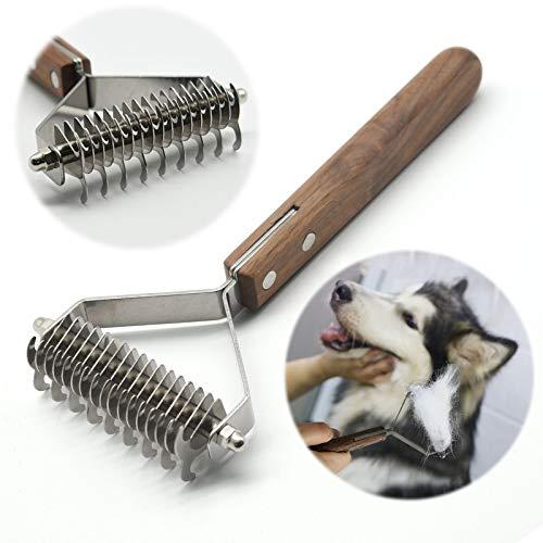 onebarleycorn – Premium Hundebürste und Katzenbürste Fellpflege,17+9 doppelseitige Zähne, Entfernt Unterwolle und...