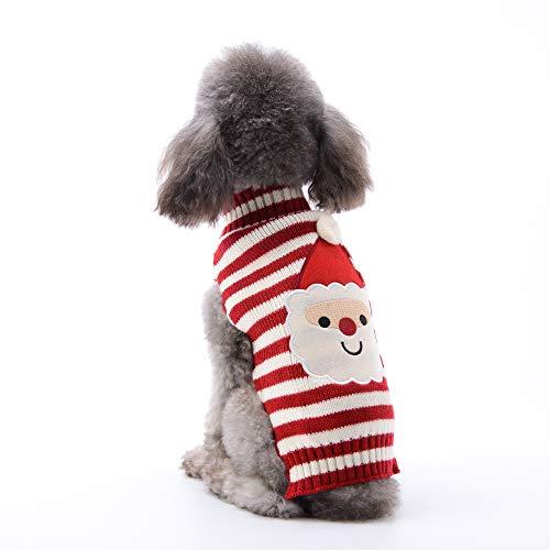 ABRRLO Hunde Kostüme Hundebekleidung Baumwolle Pullover feiern Weihnachten-Tag Winter Mantel Strickpullover Haustier...