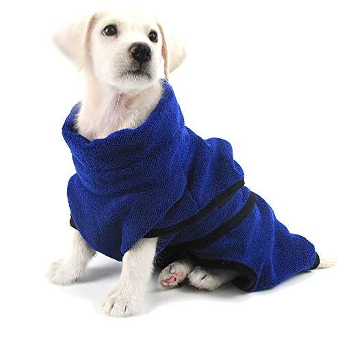 PET SPPTIES Mikrofaser Hundebademantel Handtuch Soft Pet Badetuch Schnelles Trocknen Hund Katze Bademantel PS047 (S,...