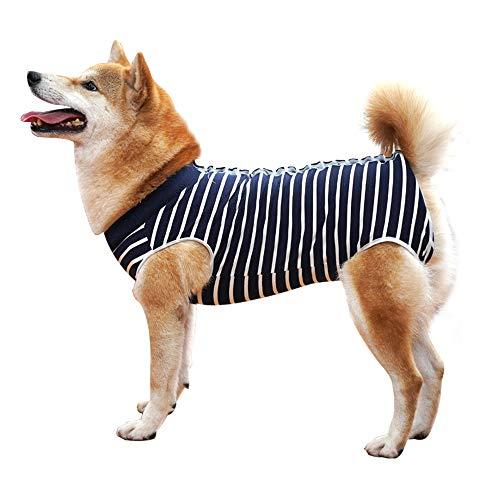 Dotoner Recovery Suit Hund,Haustiere Schutz Kleidung Hunde Kleidung für Genesung nach der Operation E-Kragen...