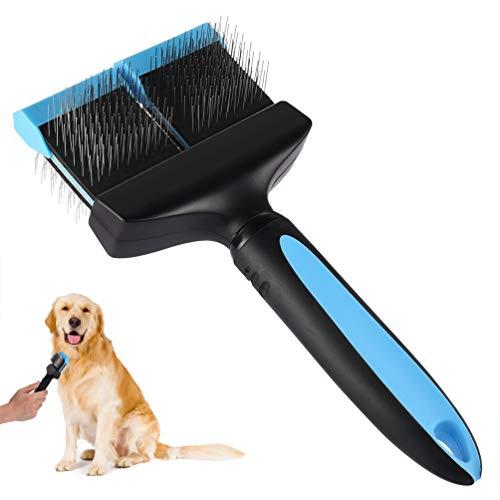 Petacc Hundebürste Langhaar Doppelseitige Hundesalonbürste Flexibler Hundebürste mit Rutschfestem Griff und...