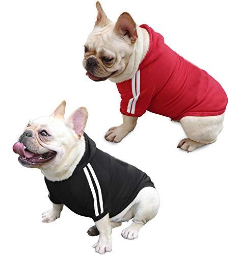 QiCheng&LYS Hundemantel Hund Hoodies Kleidung, Pet Puppy Katze Niedlicher Baumwoll Warm Hoodies Coat Pullover (XS,...