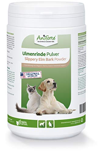 AniForte amerikanische Ulmenrinde Pulver für Hunde und Katzen 250g - Slippery Elm Bark, Naturprodukt unterstützt...