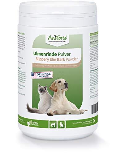 AniForte amerikanische Ulmenrinde Pulver 250g Slippery Elm Bark Pulver - Naturprodukt für Hunde und Katzen,...