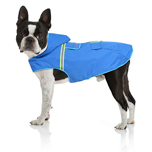 Bella & Balu Hunderegenmantel – Wasserdichter Hundemantel mit Kapuze und Reflektoren für trockene, sichere...