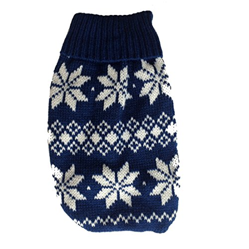 Naturhaus Hildegard Chihuahua Pullover | Hochwertige Hundebekleidung | süßer Norweger Winterpulli für kleine Hunde...