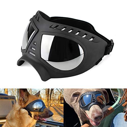 Namsan Hundebrille – Große Rassen Hunde-Sonnenbrille Winddicht Schneefest Haustierbrille Weicher Rahmen Elastische...
