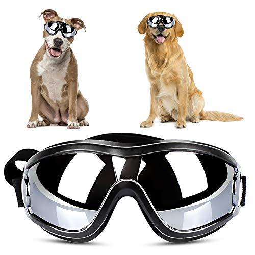 Hunde Sonnenbrille, YOUTHINK Verstellbare Hundebrille Haustier Sonnenbrille Modischer Augenschutz Winddichte...