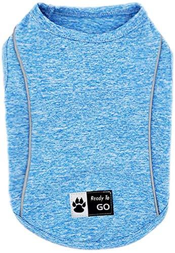 kyeese Hunde-Shirts, schnell trocknend, reflektierend, leicht, weich, Tank-Top, atmungsaktiv, ärmellos, Hunde-T-Shirt...