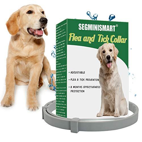 SEGMINISMART Zeckenhalsband für Hunde, Verstellbar Zecken Halsband für Hunde und Katze, Wasserdicht Hund Flohhalsband,...