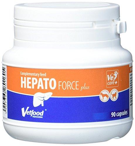 Vetfood Hepatoforce Plus | Unterstützt die Leber | Für Hunde & Katzen | 90 Kapseln